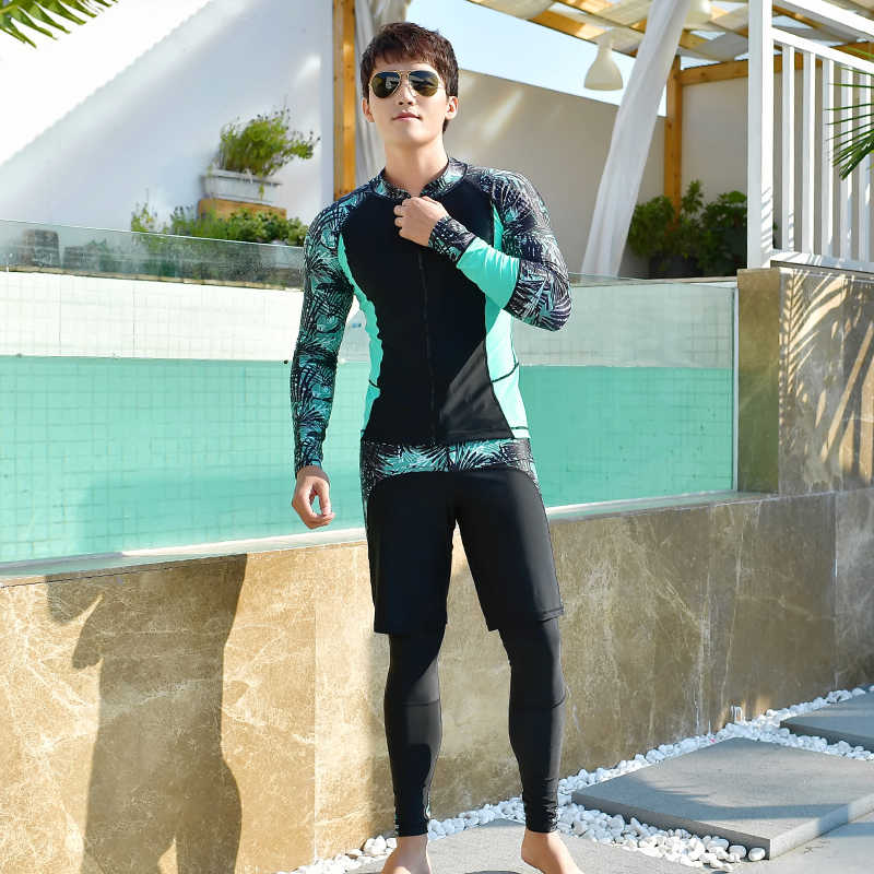 Moda döküntü bekçi çift 2019 erkek/kadın sörf takım elbise uzun kollu kaliteli rashguards severler UV mayo artı boyutu