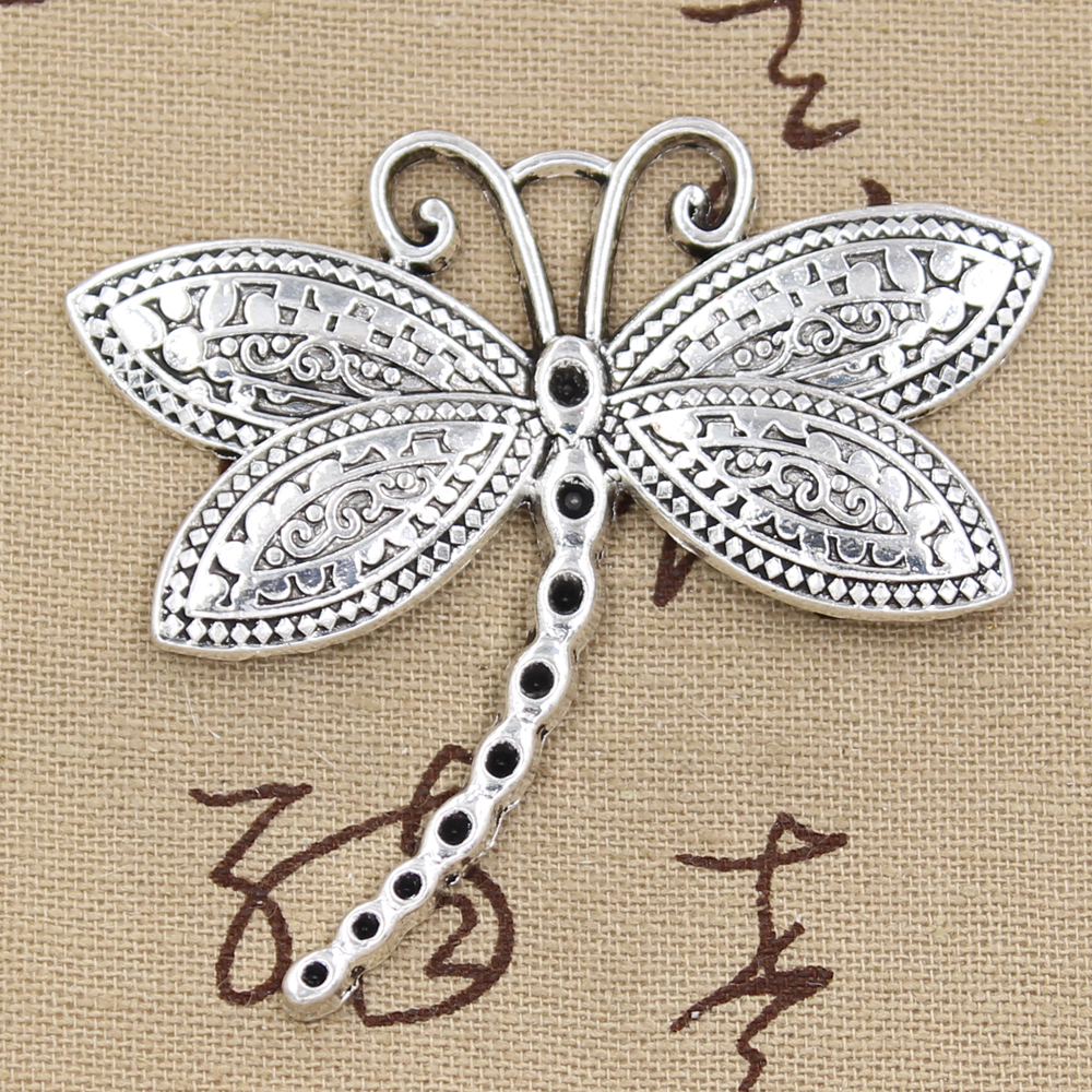 2pcs Charms Dragonfly 60x58mm Antique Pendant Fit,Vintage Tibetan Silver,DIY Handmade Jewelry