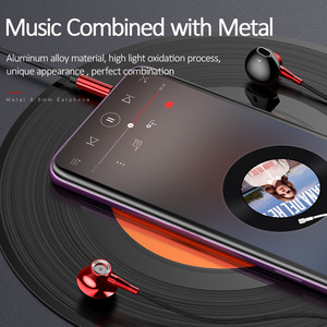 Image 3 - USAMS In ear 3.5mm audio Earphone Metal Hifi Wired headset Microphone 4D Stereo wired earphones for iPhone 6s se Samsung Xiaomi