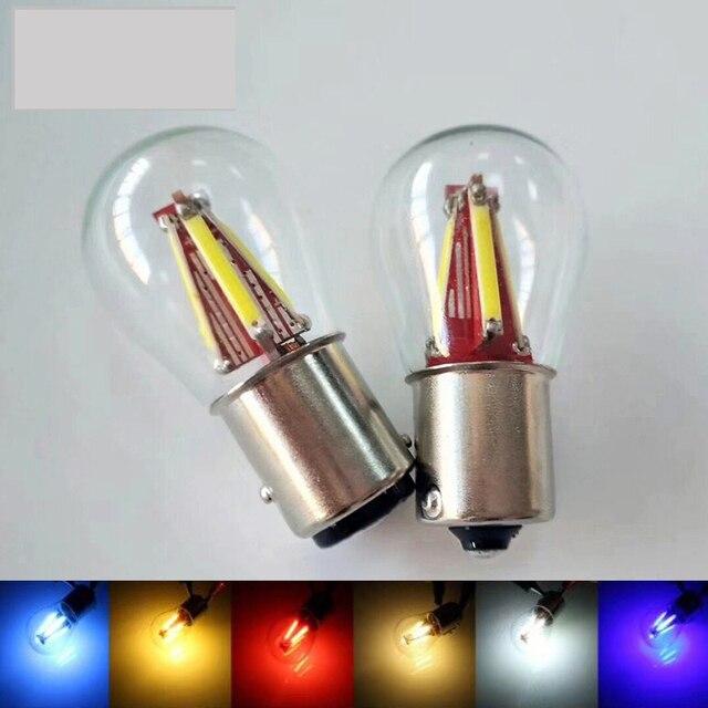 1X Super Bright 4 Filament Led 1157 BAY15D P21W/5W Car Brake Light Bulb Auto Vehicle Lamp P21W Ba15s 1156 Blue White Red Yellow
