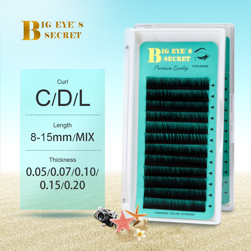 Big Eye's Secret Individual Lashes J B C D L Mix Trays1pcs Eyelash Extensions Wholesales Professional Natural Soft Free Shipping