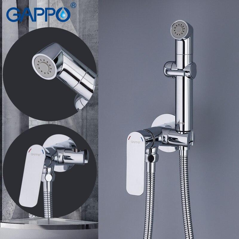 GAPPO bidé baño ducha de mano de inodoro, bidé rociador higiénico ducha bidet grifo montado en la pared bidet grifos de ducha - 2
