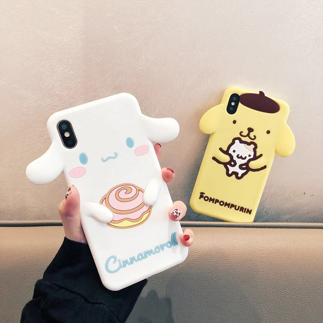 3D Cute Cartoon Dog Silicon Case for iPhone