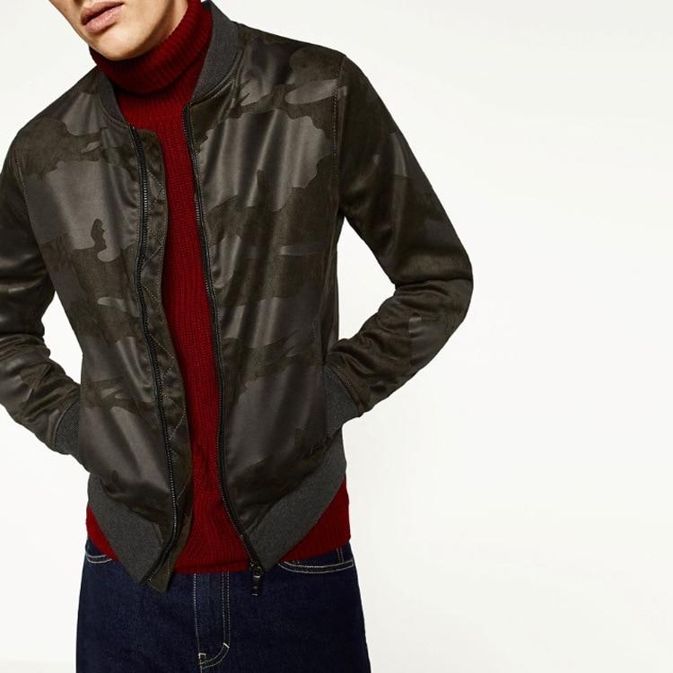 Manteau en daim camouflage pour homme