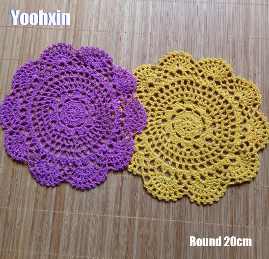 Supply Hot Lace Cotton Table Place Mat Round Crochet Coffee Placemat Dish Pad Christmas Drink Coaster Cup Mug Tea Dining Doily Kitchen Exquisite Traditional Embroidery Art Kitchen,dining & Bar