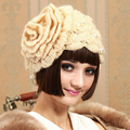 Sweet Kawaii Knitted Hat Winter Handmade Thermal Beret  Hat  Female Autumn And Winter Knitted Skullies Beanies