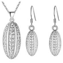 Thick silver jewelry set plating 925 elegant wholesale fashion of football accessories