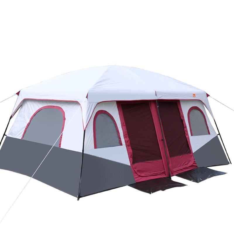 Nouveau modèle 2 chambres haute qualité grand espace 6 8 10 12 personnes grand voyage en plein air famille camping tente