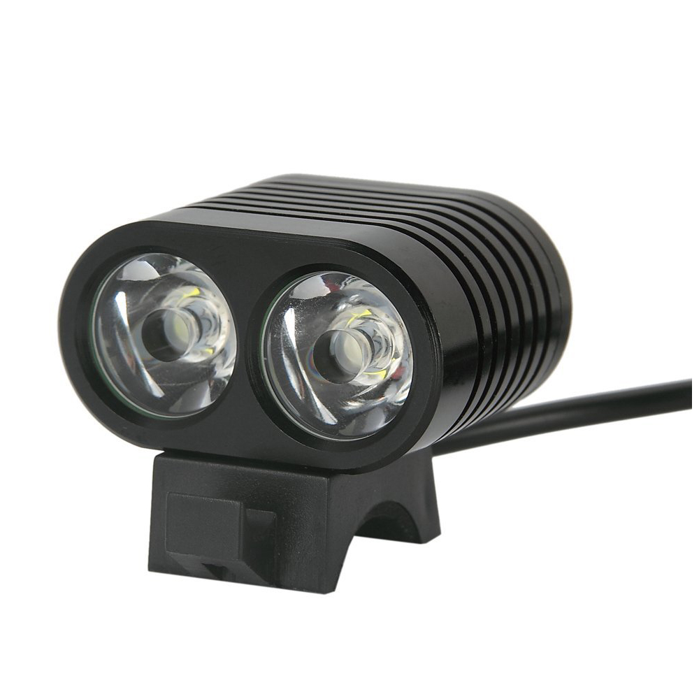 Rechargeable and Waterproof Bike head light lamp - 2 x XM-L2 4000 Lumen LED - 3 Modes of Operation - with 8.4V Battery Pack +Rechargeable and Waterproof Bike head light lamp - 2 x XM-L2 4000 Lumen LED - 3 Modes of Operation - with 8.4V Battery Pack +