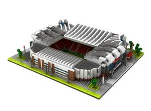 Image 4 - World Great Football Soccer Player Stadium Field Building Kit Mini Micro Block Brick Architecture Club Cup Kid Toy