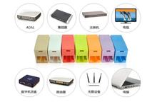 RJ45 Converter 5pcs/lot Candy Color straight-through head Network cable connector network