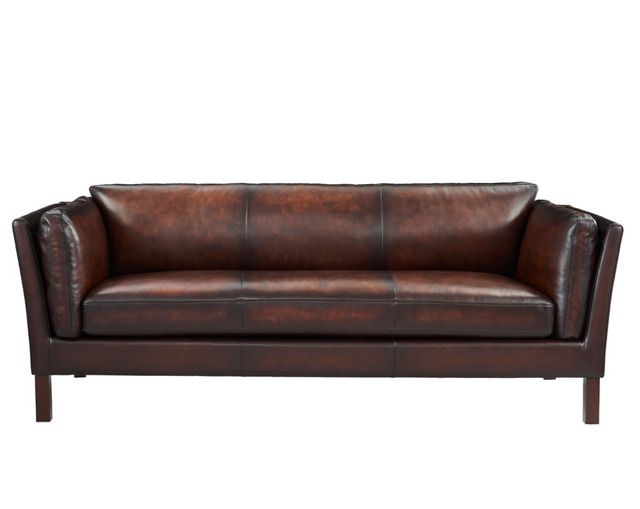 Louis Donne Genuine Leather Sofa Model 7207 Luxury Retro Style Family Living Room