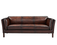 Louis Donne Genuine Leather Sofa(Model 7207), Luxury Retro Style Family Living Room Sofa Chair Furniture Set