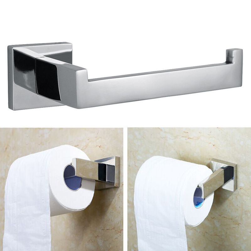 Bathroom Hardware Nice Toilet Paper Holder Kitchen Bathroom 3m Stick Suction Cup Toilet Paper Holder Papel Higienico Stainless Steel Polished Finished Lustrous Bathroom Fixtures