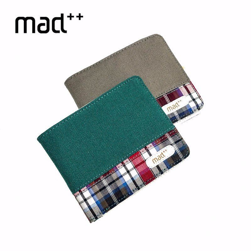 Men Wallet And Female Short Purse Male Bifold Canvas Card Case Pocket Pouch New Design Hot Fashion Young Boy Girl Teens Male