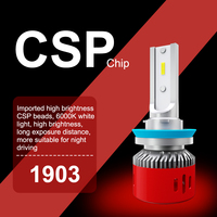 white car H4 LED H7 Headlight Bulbs Super Bright CSP Chips Lamp H1 H8 H9 H11 9005 HB3 9006 60W 6000LM 12V 6000K White LED Car light (2)