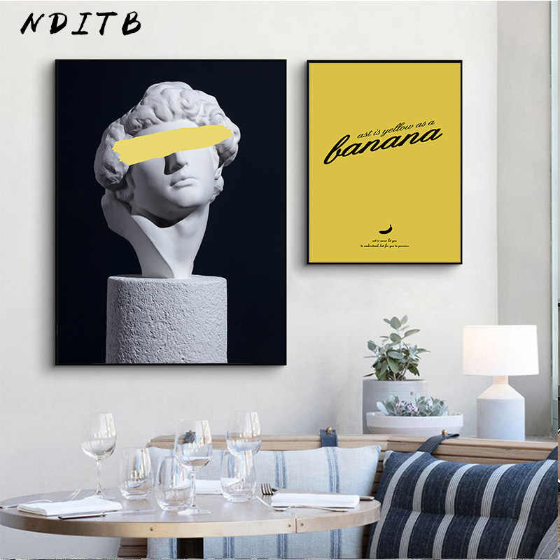 Retro Woman Sculpture Renaissance Art Poster Abstract Canvas Wall Print Painting Modern Style Picture Contemporary Room Decor