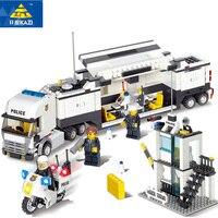KAZI 6727 Building Blocks Police Station Model Building Blocks 511 Pcs Playmobil Blocks DIY Bricks Educational