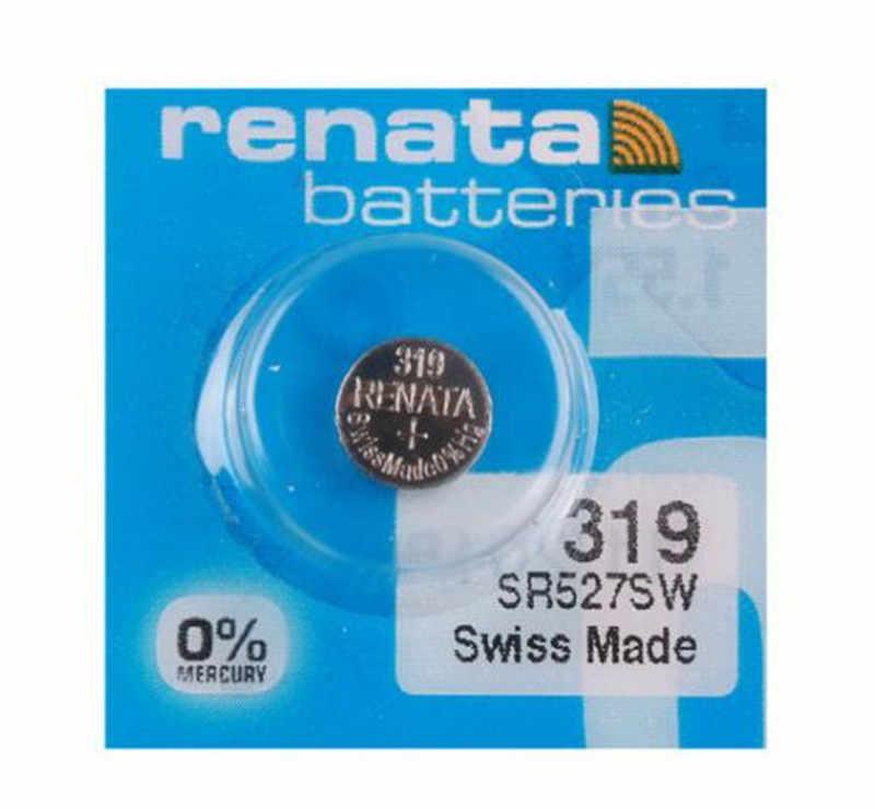3ピース/ロット小売真新しいレナータ長続き319 sr527sw SR527 v319時計電池ボタンコイン電池スイスメイド100%オリジナル