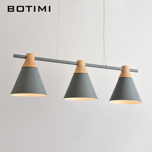 Image 5 - Nordic New Design Pendant Lights Wooden Hanging Light For Dining Table Colorful Bar Lamp Indoor LED Lighting Fixtures