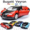 Precio Al Por Mayor de la fábrica de Automóviles de Aleación 1:36 Bugatti Veyron Diecast Coches de Juguete Para Niños de Simulación de Modelos de Coches Puerta de Atrás Abierta Del Coche