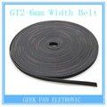 10meter Black Rubber GT2-6mm open timing belt width 6mm GT2 belt  For 3D Printer GT2 Pulley A604