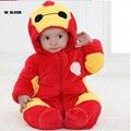 Baymax caliente 100% de Algodón de Manga Larga Ropa de Bebé Rojo Bebé mamelucos del Invierno Gruesa Mameluco Del Mono Del Bebé Para 0-2 Niños Recién Nacidos niñas