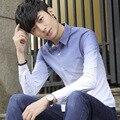 Hombres de la moda otoño camisa de manga larga camisa Delgada camisa masculina de moda masculina joven modelos tidedo513