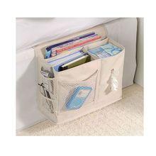 Многофункциональная прикроватная подвесная сумка для хранения, Висячие мелочи, журналы, пульт дистанционного управления, книги, телефон, тканевый держатель-Органайзер