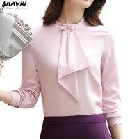 Female Summer 2017 New Chiffon Shirt OL Fashion Temperament Short Sleeve Casual Loose Blouse Office Ladies