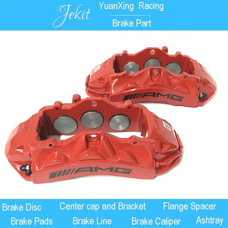 Jekit Brake system AMG 6 pots brake calipers disc pads center bell adapters metal hose full set for Mercedes w201 e190