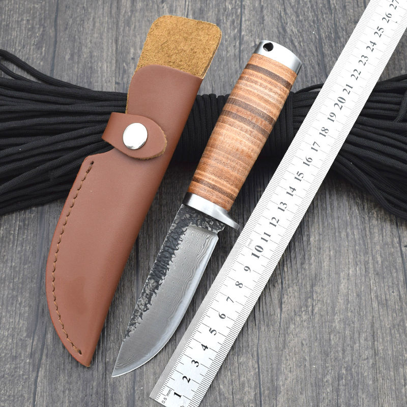 High carbon pattern steel Blade Survival Knife Fixed Blade Knifes Hunting Tactical Knives With Sheath Camping Outdoor EDC Tools набор для настольного тенниса torneo 6 предметов ti bs1010