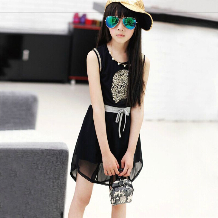 Beautiful Fashionable New Summer Chiffon Girls Dress Special Eagle Doodle Dress For  Teen Children Simple And Decent Kids Girlsu0027 Clothes In Dresses From Mother  U0026 Kids ...