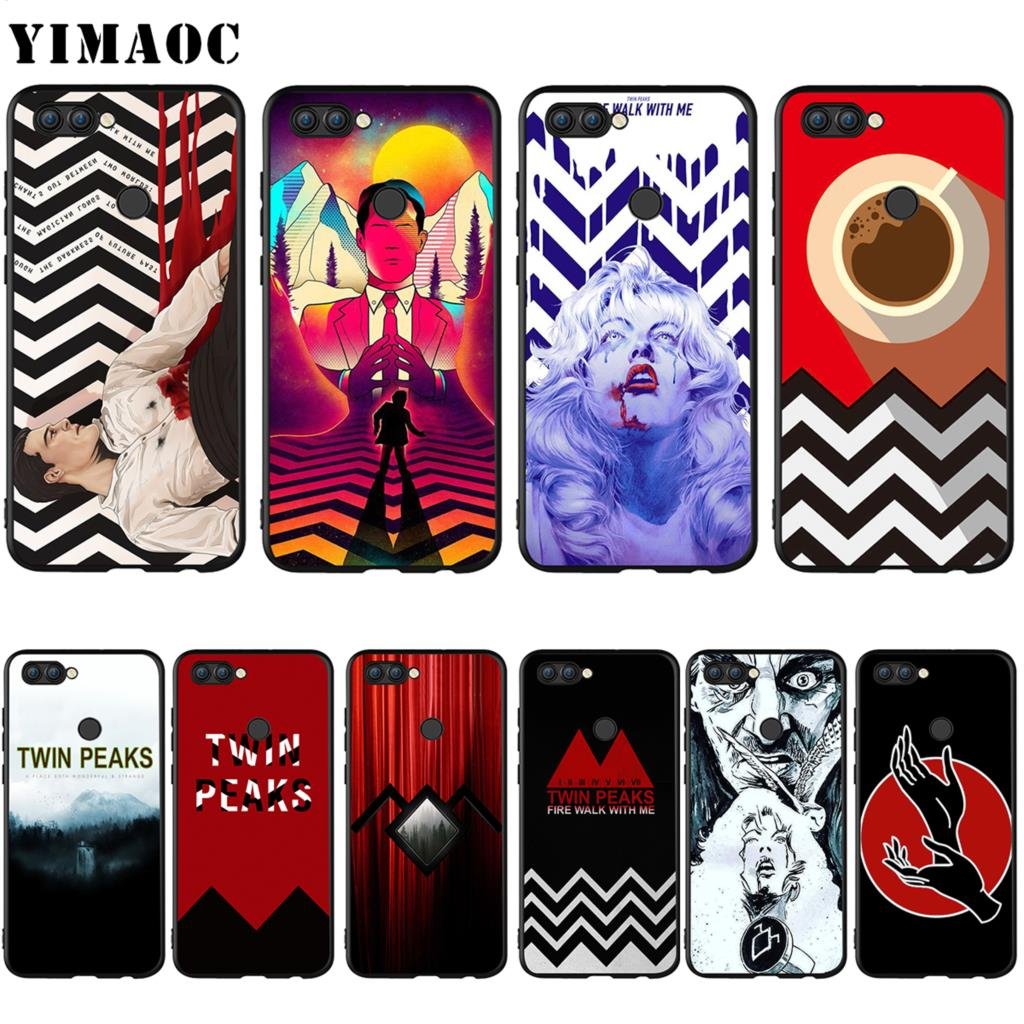 YIMAOC Twin Peaks Fire Walk with Me Silicone Case for Huawei Honor Mate Y6 6A 8 9 10 P8 P9 P10 P20 P Smart Lite Pro 2017