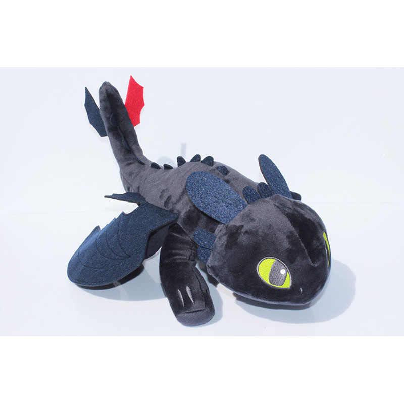 Como treinar O Seu Dragão Brinquedos 23 cm/35 centímetros Brinquedos Dragão Desdentado Fúria Da Noite Boneca De Pelúcia Dragão Ação figura Brinquedos para As Crianças Crianças