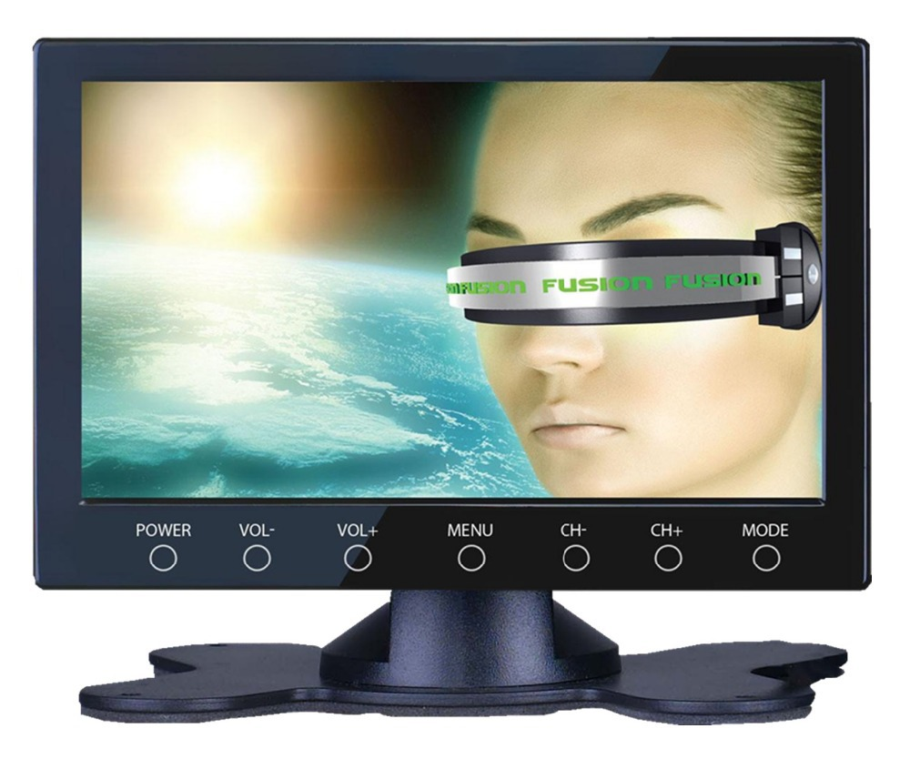 Free shipping 7inch super slim car Analog LCD TV /portable TV with touch button,USB/SD,speaker,bracket,video,input AV In/Out