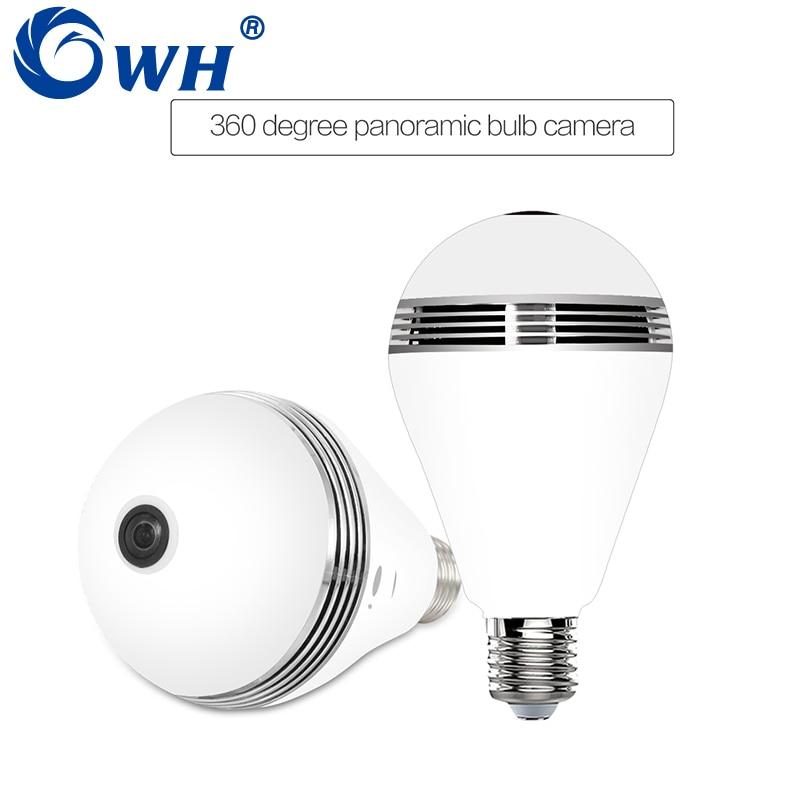 CWH 960P Light Bulb Wireless WiFi Camera Light Bulb SD Card Security Lamp Fisheye Panorama CCTV Video Surveillance Cam EC29D-I6 легко пользоваться школа эз складочном np100 wifi sd кардридер специальный считыватель