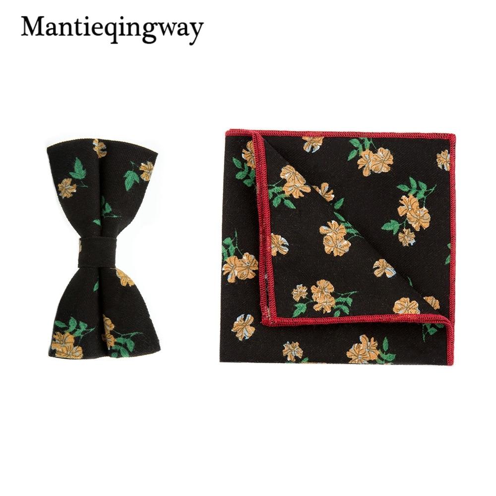 Mantieqingway Vintage Floral Bowtie Männer Anzüge Brautkleid Fliege ...