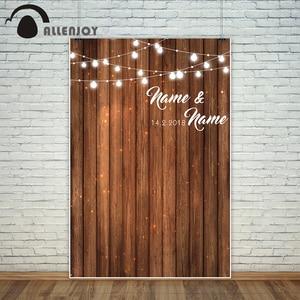 Image 2 - Allenjoy düğün arka planlar fotoğraf stüdyosu için ahşap pano parti özelleştirmek orijinal tasarım zemin profesyonel photocall