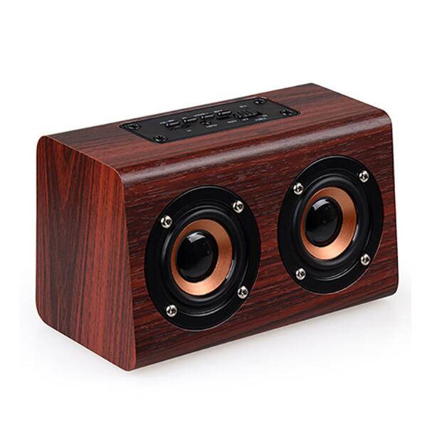 30Pcs New Wooden Bluetooth Speaker Suitable For Mobile Phone Notebook Speaker PC Socket TF Card/AUX Mini Speaker Bass Sound