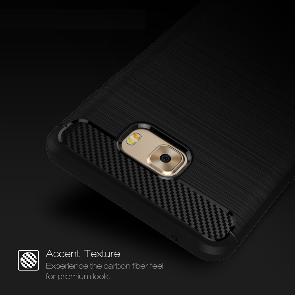 Luxury Soft TPU Case for Samsung Galaxy C9 Pro Case, Carbon fiber Leather Skin Back Cover Flexible Case