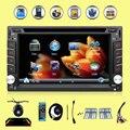 2016 новый 2 DIN Автомобильный DVD GPS Плеер Двойной Радио Стерео В Тире MP3 Автомагнитолы Авто CD Камеры парковки 2DIN HD TV Радио Видео Аудио