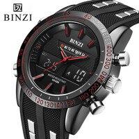 2017 BINZI New Hot Watches Luxury Brand Analog Men Military Watch Men Quartz Silicone BINZI Male