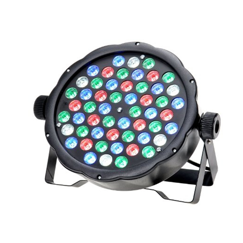 Professional 12 18 36 54leds DMX512 LED Stage Lights RGB Par LED Stage Lighting Effect Led Flat for DJ Disco Party Wedding KTV new professional led stage light 6w rgb ac90 240v stage lighting effect par light for dj disco party ktv free shipping