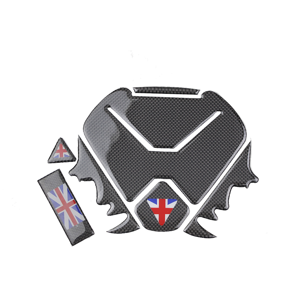 KODASKIN Motorcycle Carbon Protection Tank Pad Decal Protector sticker emblem For Triumph in Decals Stickers from Automobiles Motorcycles