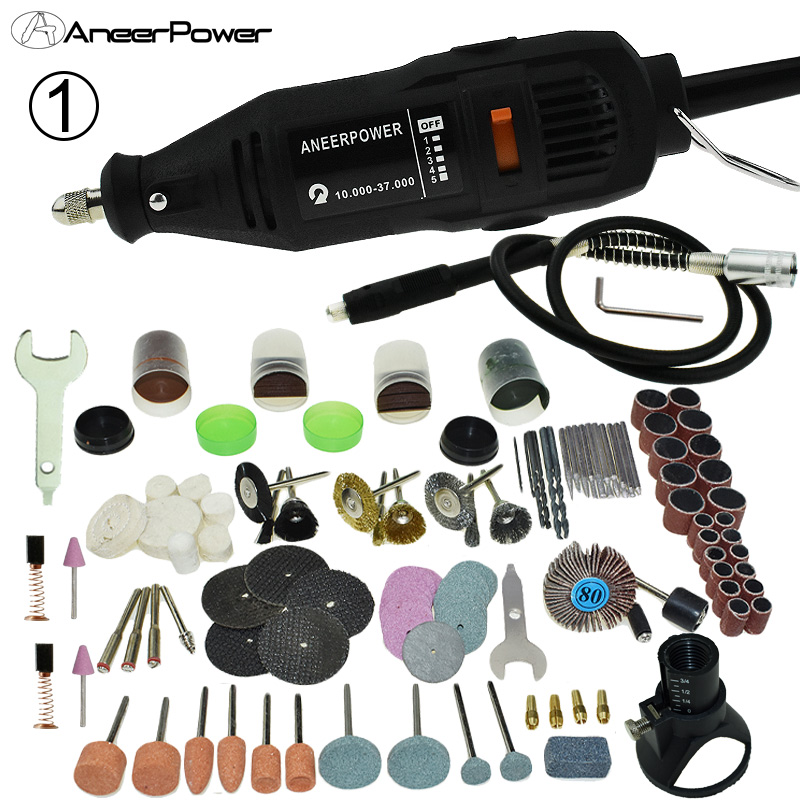WishY Herramientas De Grabado Multifunci/ón,Mini El/éctrico Amoladora con Cable De Carga USB Y 130 Piezas De Accesorios Velocidad Variable 3000-15000 RPM para Bricolaje Modelo