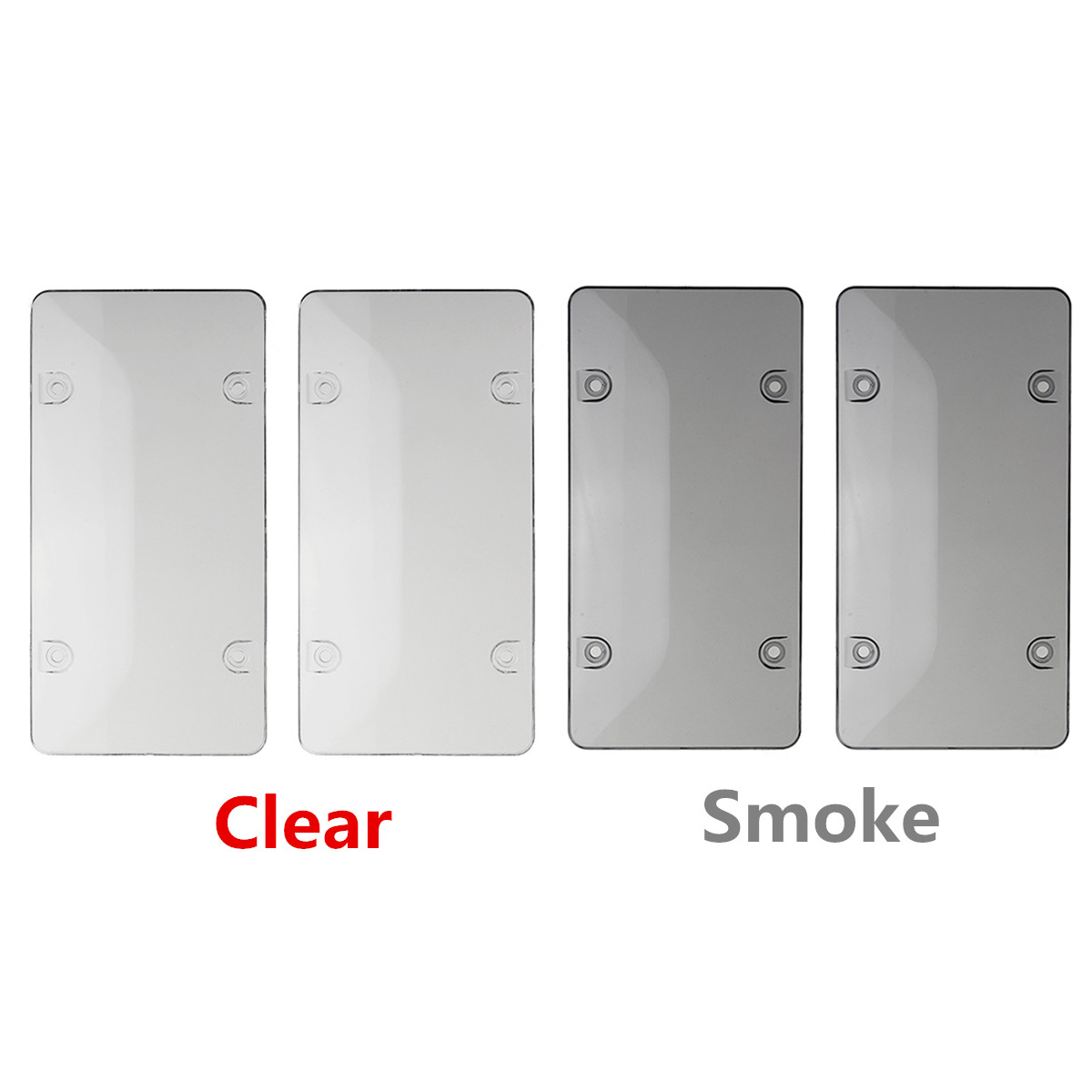 2X Clear Smoke License Plate Frame Cover Bug Shield Tag Protector Car Truck RV