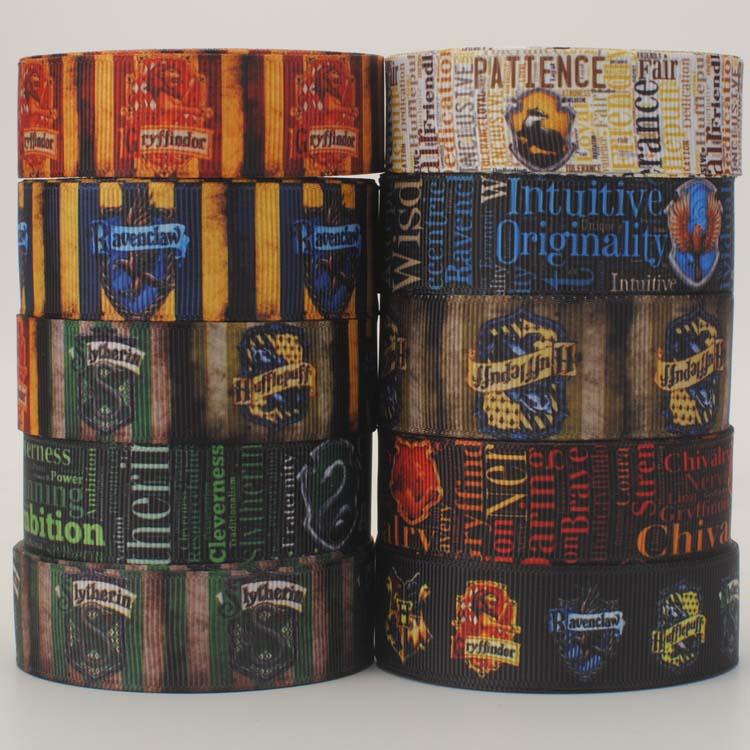 Новые смешанные 10 стилей горячие Гарри Поттер узор ленты, DIY hairbow каждый 1 ярд лента Набор Бесплатная доставка