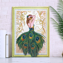 5D DIY Diamond Painting Character Animal Pattern Special Shape Cross Stitch Crystal Round Mosaic