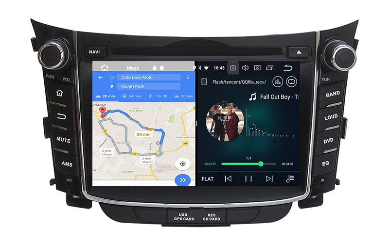 hyundai i30 head unit android 8.0 aftermarket stereo radio replacement 3